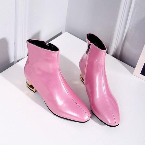 Ankle Boot Feminina J&k 91936 Importado