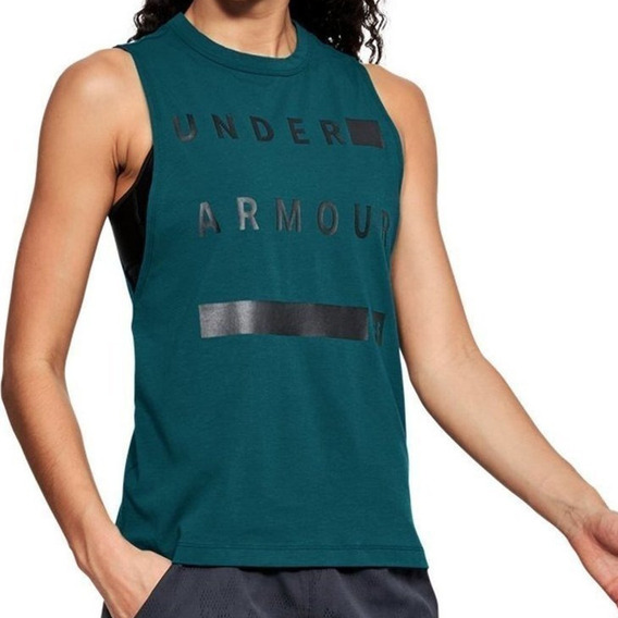 Musculosa Under Armour Graphic Muscle Linear Wordmark Pe
