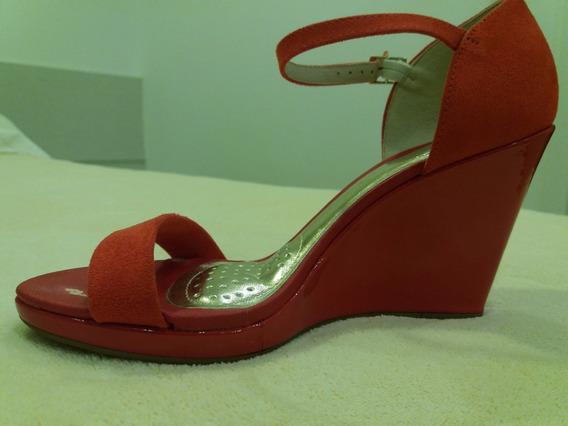 Sandalia Anabela Vermelha