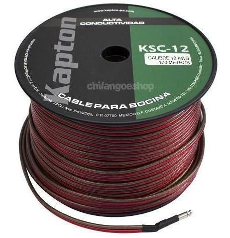 Imagen 1 de 2 de Cable Para Bocina Uso Rudo Polarizado Calibre 12 100 Mts