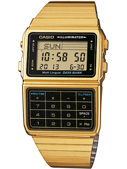Relogio Casio Dbc 611g-1 Data Bank Calculadora Crono Slim