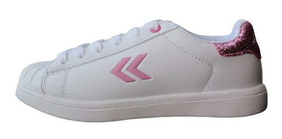 Zapatillas Blancas Atomik Niños Niñas Casual Cordon New Chia