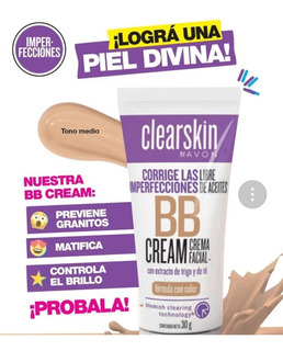 Crema Facial De Avon Con Color Matifica Y Previene Granitos