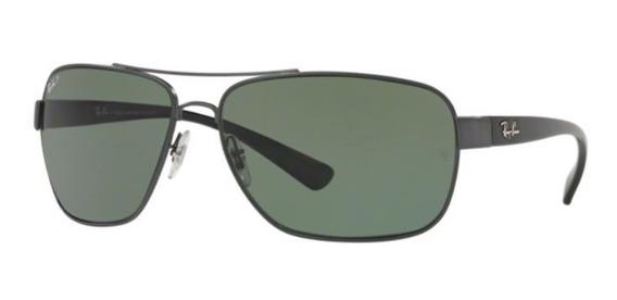 Oculos Sol Ray Ban Rb3567 041/9a 66 Grafite Verde Polarizado