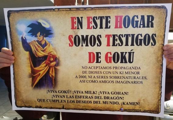 Poster En Esta Casa Somos Testigos Goku 1/2 Metro Dragonball