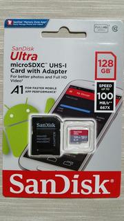 Cartão De Memória Sandisk Classe 10 128gb 100mbs Original