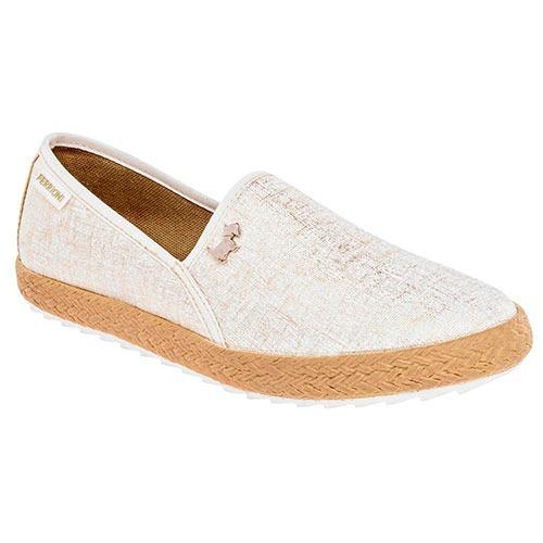 Zapato Casual Mujer Ferrioni Beige/oro 76002 Env Gratis!!!