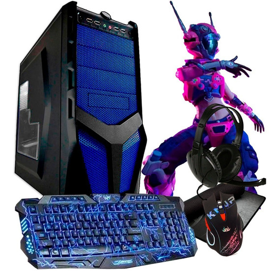 Pc Gamer Barato Quad 4gb / 1tb / Geforce / Jogos + Kit Gamer