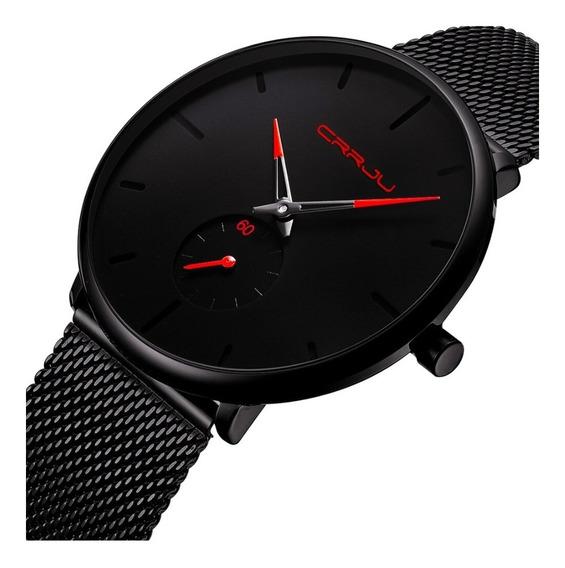 Promoção Relógio Masculino Crrju 2150 Original Ultra Fino