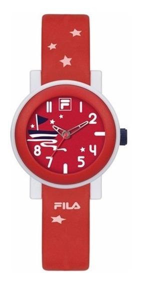Reloj Fila 38-202-008 Caucho Rojo Analógico Quartz Original