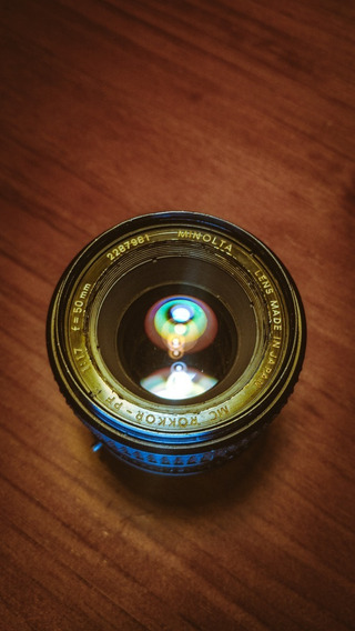 Lente Minolta Mc Rokkor - Pf 50mm F1.7 + Adaptador Canon Eos