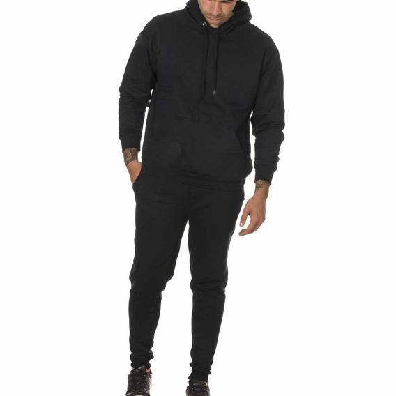Conjunto Calça + Blusa Moletom Peluciado Frio Masc Capuz