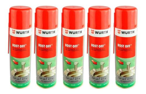 Kit Com 12 Rost Off Wurth 300ml - Micro Óleo Desengripante