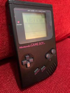 Consola Gameboy Classic Negra + 8 Juegos Nintendo Ntdf