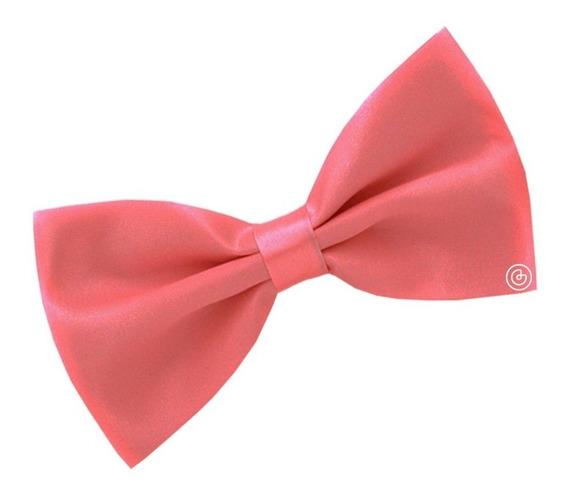 Corbata De Moño Liso Para Hombre Grin Accs Color Coral