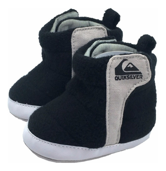 Zapato Bota Calzado Bebé Marca Quiksilver Negro Con Gris