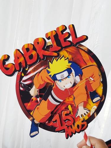 Imagem 1 de 1 de Topo De Bolo Naruto