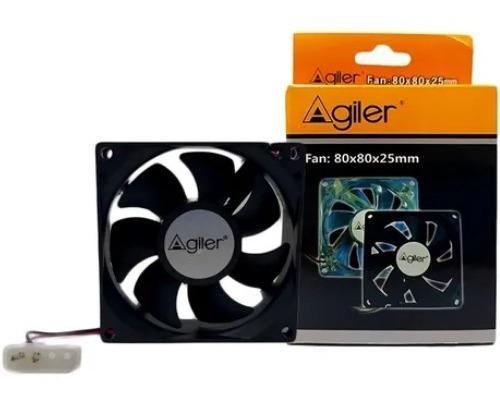 Fan Cooler Ventilador Agiler Pc 80mm Negro