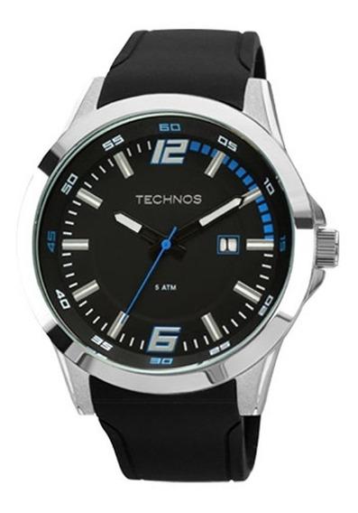 Relógio Technos Masculino Azul Ou Preto Silicone Barato