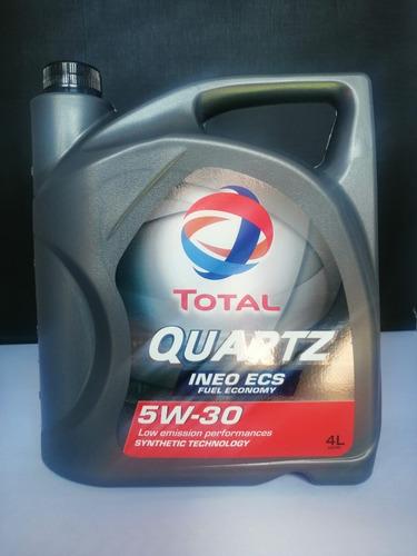 Imagen 1 de 2 de Aceite Total Quartz Ineo Ecs 5w30 4l L46