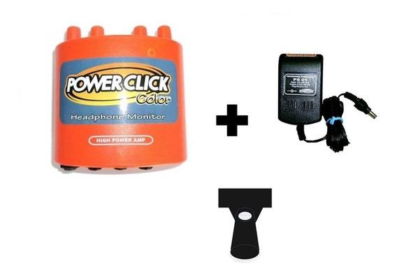 Powerclick Amp Fone Db05color Laranja Fonte Ps01 Suporte Spp
