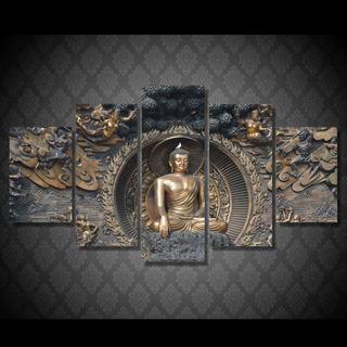 5 Unids Buda Moderno Lienzo Imágenes Arte Pared Decoración P