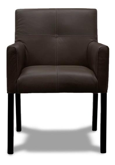 Sillón De Piel Genuina - Bona - Conforto Muebles