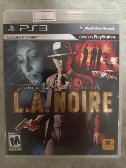 Jogo Sony Ps3 L.a. Noire Original Lote184