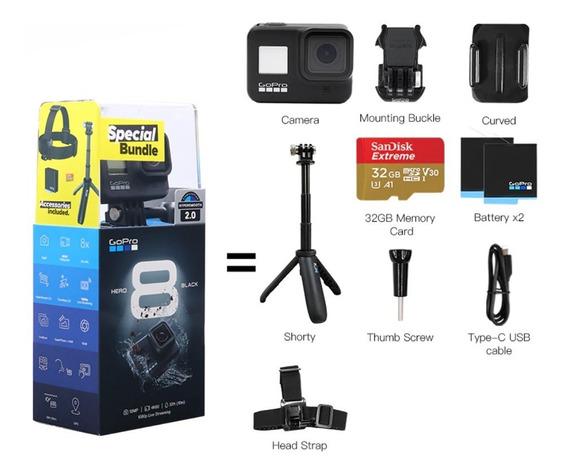 Gopro Hero 8 Black 4k60 + Kit De Acessórios Special Bundle