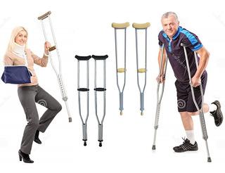 Muletas Ortopedicas De Aluminio Graduables Importada Baston