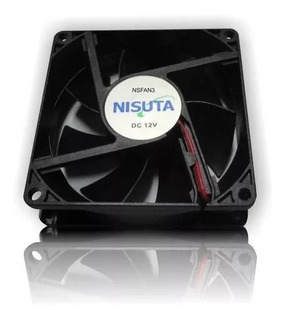 Ventilador Cooler Pc 80x80x25mm 12v 4 Pin Nisuta Ns-fan3m