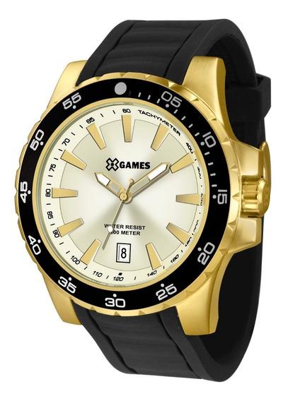 Relógio X-games Masculino Xmgp1001 C1px Dourado Aço