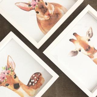 Cuadros Infantiles 20x20 Box Blanco Oh Bambi