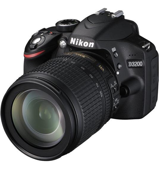 Cámara Nikon Reflex D3200 + Lente 55-105 + 2funda Usada