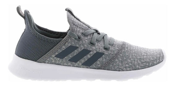 Zapatilla adidas Running Mujer Cloudfoam Pure Gris- Bco Ras