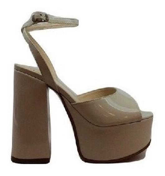 Zapato Mujer Sandalia Natacha Charol Blanco Tiza #790