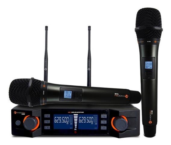 Microfone Sem Fio Duplo Kadosh K-492m (uhf-digital-200 Freq)