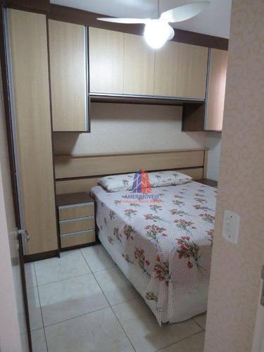 Apartamento Com 2 Dormitórios À Venda, 46 M² Por R$ 200.000 - Residencial Asteca - Loteamento Industrial Machadinho - Americana/sp - Ap0598