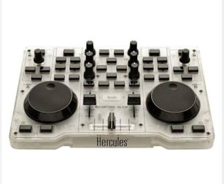 Controlador Dj Hercules Glow Usb Mixer Virtual Led Verde