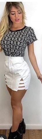 Blusa Fendi - Preto/branco