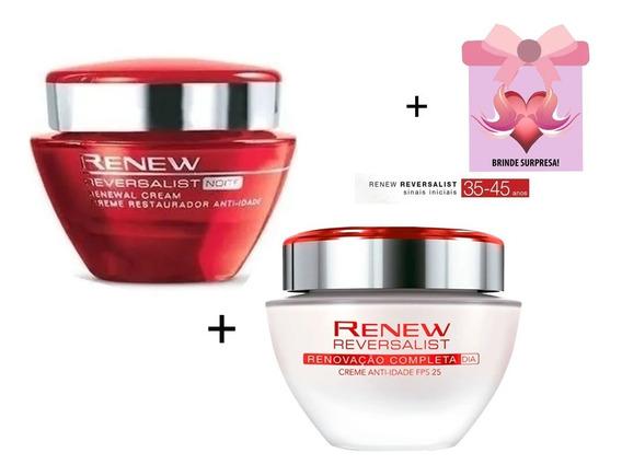 Avon Renew Reversalist Noite 50g + Creme Dia 50g + Brinde