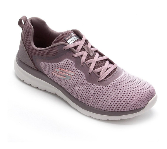 Tênis Skechers Feminino Bountiful Quick Path Lavender 12607