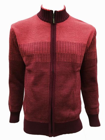 Suéter Con Puntos Cierre Completo Hombre