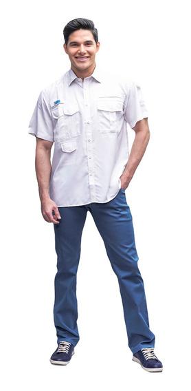 Camisas Ke Manga Corta Blanco Talla Caballeros #cc04-2871
