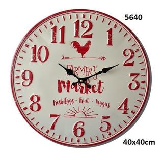 Reloj En Chapa P/pared Vintage Premium Diam/40cm Tutti Net