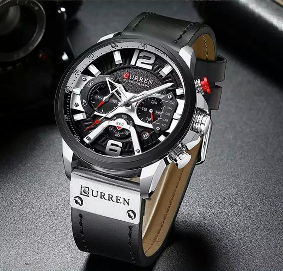 Relógio Masculino Original Curren Couro