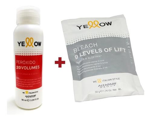 Agua Oxigenada Yellow Oxidante 20 30 40vol + Deco 9 Tonos
