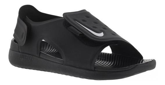 Sandalia Infantil Nike Sunray Adjust 5 Preta Tam 18,5 Ao 26