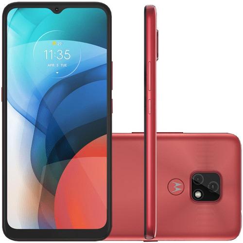 Imagem 1 de 5 de Celular Motorola Moto E7 Cobre 64gb Tela 6.5 Camera 48mp 2mp