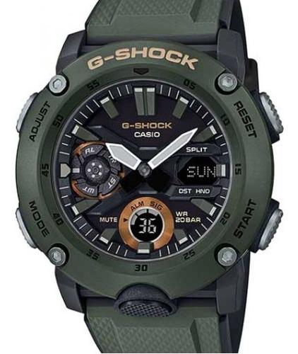 Relogio Casio G-shock Carbon Core Guard Verde  Ga-2000-3adr